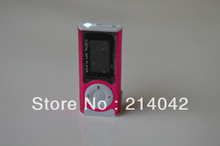 free shipping DHL Clip MP3 player w/ screen + TF Slot + Flashlight+built-in speaker 5 colors(China (Mainland))