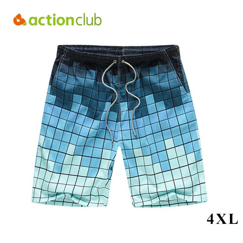 Actionclub Men's Beach Shorts Cotton Loose Summer Board Short Men Beachwear Pants Male Sport Surf Wear Plus Size 4XL MP955(China (Mainland))