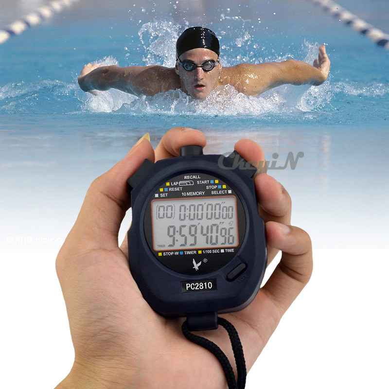 Гаджет  High Quality Handheld Digital LCD Sports Stopwatch Professional Chronograph Counter Timer with Strap MB012B-H25 None Инструменты