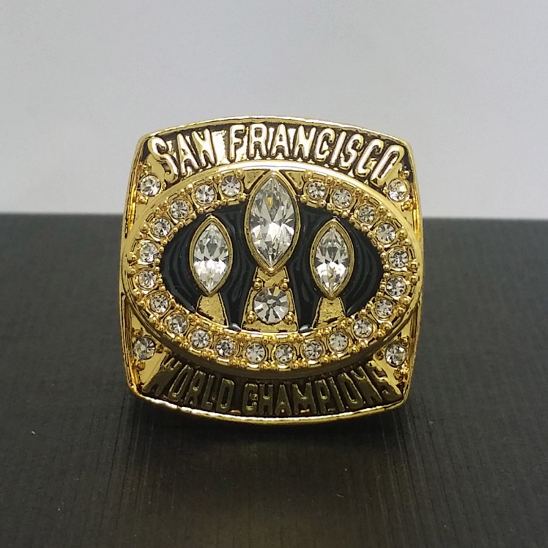 1988 San Francisco 49ers Football Super Bowl World Championship Ring 11Size 'Montana' Fans Solid Back Gift Collection - ring store