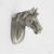 Antique Silver Horse Head Pulls Terne Metal Closet Knobs Cabinet Kids Cartoon Animal Handle Drawer Pulls Kids Dresser Knobs