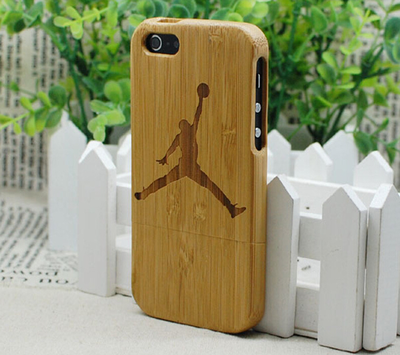 Free Shipping Basketball New Style Gifts Jordan Sports Real Natural Bamboo Wooden Hard Skin Cover Case For Apple iPhone 5 5G 5S(China (Mainland))