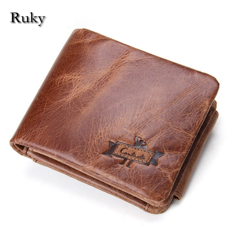 short purse Classical Men Wallets Genuine Leather Short Wallet Fashion Zipper Brand Purse Card Holder Wallet Man With Coin Bag(China (Mainland))