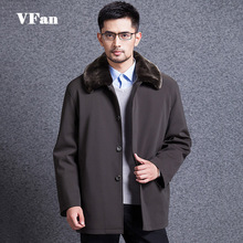 Winter Men Down Jacket Casual Single Breasted Thicken Outerwear Big Fur Collar Long Coat Plus Size 3XL Z1475