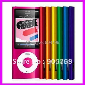 New 5th 8GB MP3 player 2.2 LCD Camera Scroll Wheel 1.3MP Camera Fashionable Mp3 player Free Ship