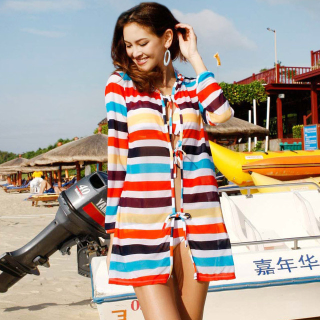 free shipping 2012 swimwear multicolour stripe steel piece set swimwear 13052 dropshipping