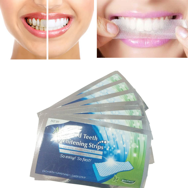 7Pairs New Teeth Whitening Strips Gel Care Oral Hygiene Clareador Dental Bleaching Tooth Whitening Bleach Teeth Whiten Tools(China (Mainland))