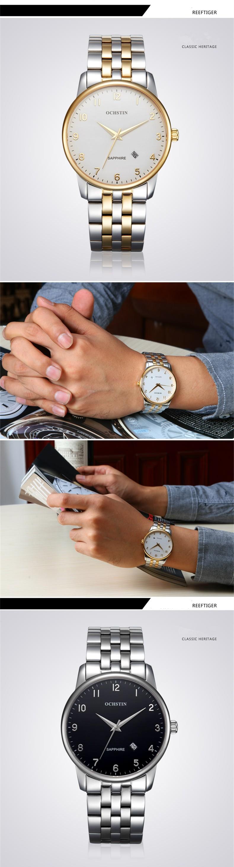 Элитная Марка Ochstin Бизнес Часы Мужчины 2016 Мода Авто Дата Кварцевые Часы Повседневная Наручные Часы Relogio Masculino Горячий Подарок