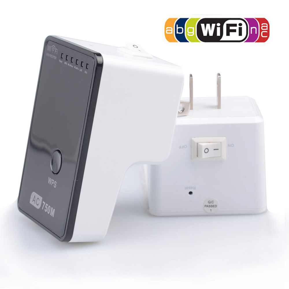 AC750 WiFi Range Extender Router Reapter Boosters 2.4Ghz & 5Ghz Dual Band Max. 750Mbps 802.11ac US/EU/UK/AU Plug - Shenzhen Lavid Technology Co.,LTD store