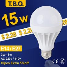 5Pcs/lot LED Lamp LED E27 E14 Bulb Led Bulb Light 3W 5W 7W 9W 12W 15W,220V 110V Wholesale Cold Warm White Led Spotlight Lamps