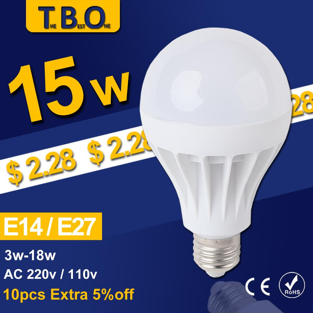 5Pcs/lot LED Lamp LED E27 E14 Bulb Led Bulb Light 3W 5W 7W 9W 12W 15W,220V 110V Wholesale Cold Warm White Led Spotlight Lamps(China (Mainland))