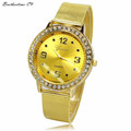 Relogio Feminino Women Rhinestone Silver Dial Stainless Steel Mesh Band Wrist Watch Ladies Dress Watches Clock