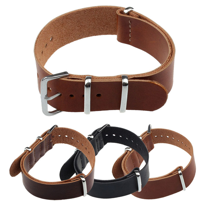 Fashion Concise PU Leather 20/22cm Wrist Watch Band Strap Pin Buckle Black/Brown/Dark Brown Color(China (Mainland))