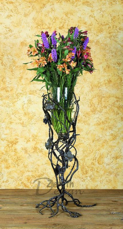 Wrought Iron Flower Metal Floor Large Vase Pastoral style Iron Vase Crafts Home Decorations(China (Mainland))