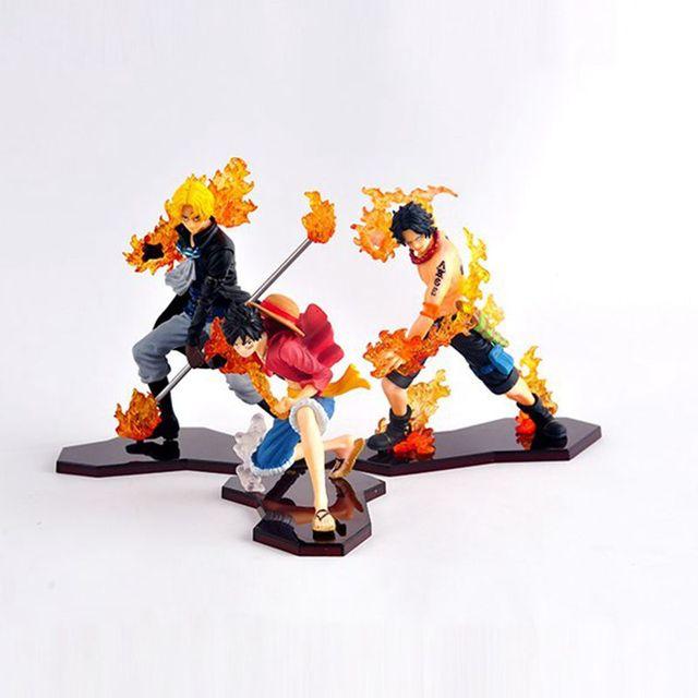3 шт./лот одна часть PVC игрушки Ace луффи Sabo коллекционная модель красивый подарок бесплатная доставка