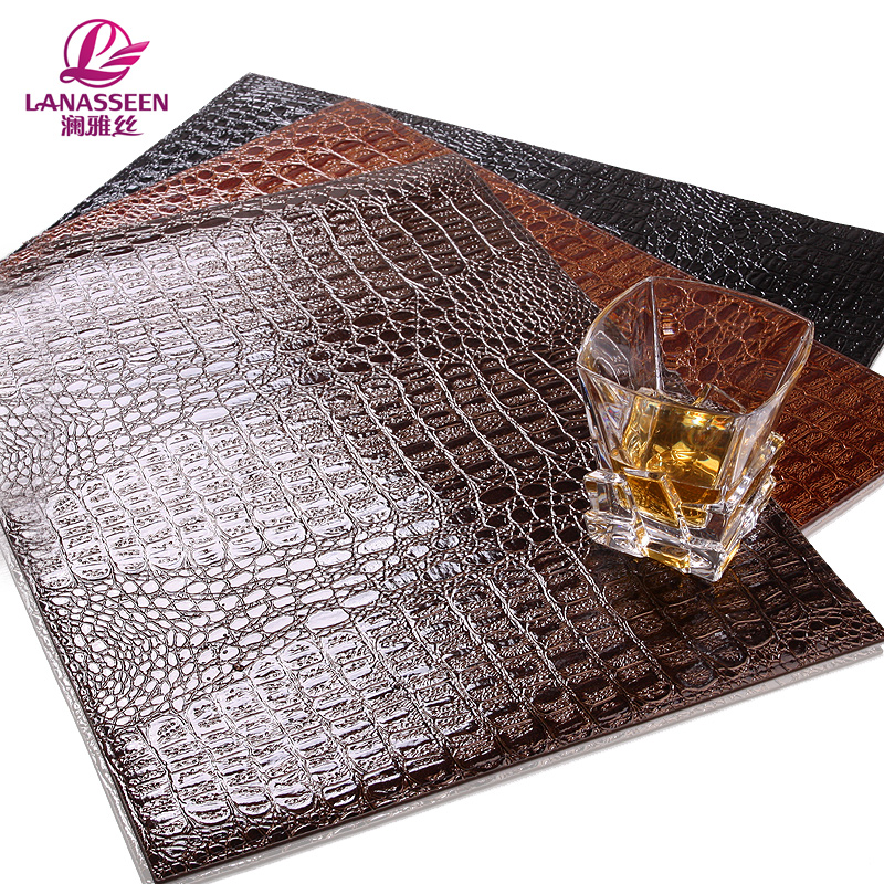 Hot Sale 4 Pcs Leather Placemat Table Mat Tablecloths Pad Waterproof Tablecloth Mat Anti-Slip Pad For Home Kitchen Accessories(China (Mainland))