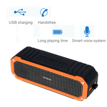Andoer 10W Wireless Bluetooth 4.0 Outdoor Stereo Speaker Portable Waterproof Soundbox Speakerphone Aux Travel Riding Cycling(China (Mainland))