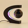 Home Decoration LED Floating Tellurion C Shape Magnetic Levitation Floating Globe World Map With LED Light