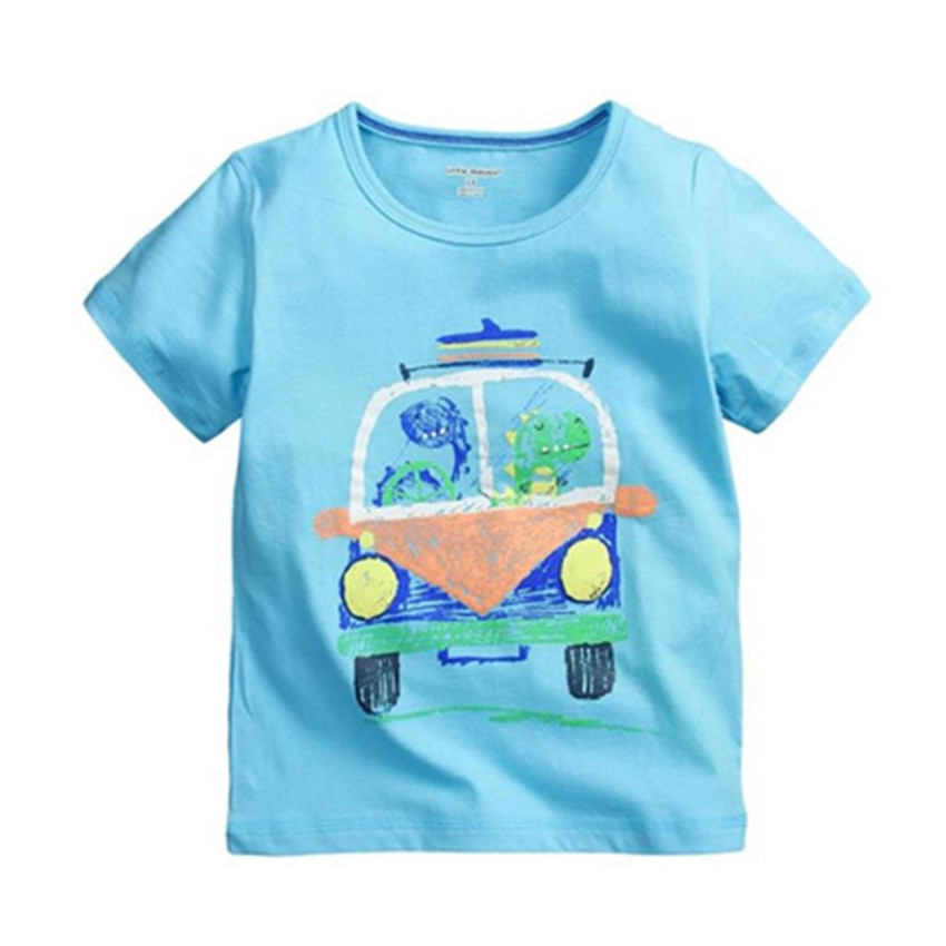 2016 Cotton Printed Short Sleeve Baby Boys T Shirt Summer