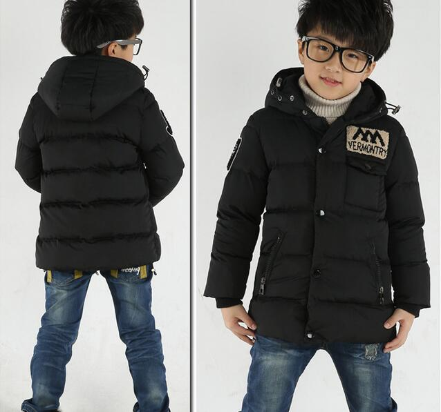 children's jackets teenage big boys child winter jacket thick hooded parkas warm boys winter coat down jacket winter outerwear(China (Mainland))