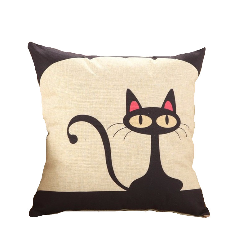 Aliexpress.com : Buy RUBI lovely cat cushions without inner pattern animal design decorative ...