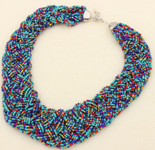 7Color Classic Boho Style Classical Seed beads Collar Necklaces Woman Jewelry colares femininos 2015