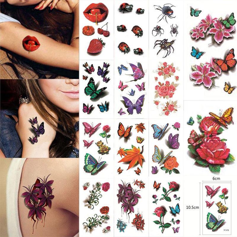 Временная татуировка 3D 10