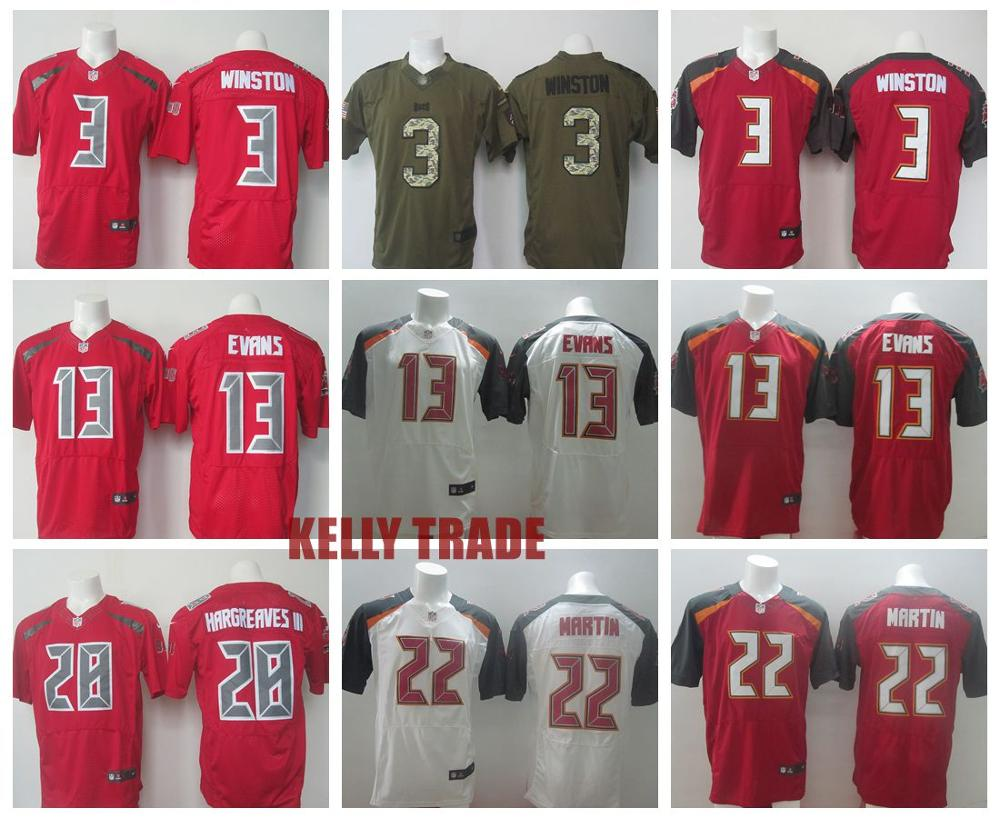 100% Stitiched,Tampa Bay Buccaneer,#3 Jameis Winston,#13 Mike Evans,#22 Doug Martin,Vernon Hargreaves,Warren Sapp,customizable(China (Mainland))