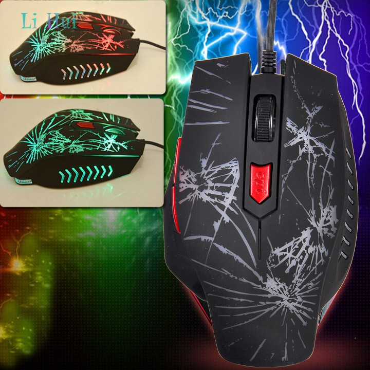 High Quality USB Wired Optical Computer Gaming Mouse 2400 DPI Game Mice With Colorful LED Light For Desktop Laptop 10(China (Mainland))