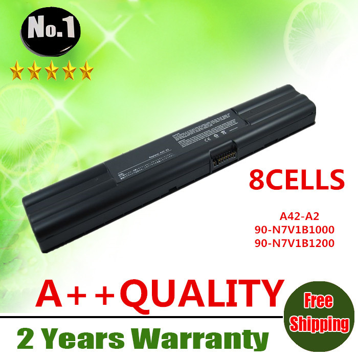 Wholesale New 8cells laptop battery FOR Asus A2000 A2500 A2 Series A2520P A42-A2 90-N7V1B1000 90-N7V1B1200 free shipping(China (Mainland))