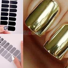 Smooth Nail Art Sticker Foils  Wraps Decoration Stickers Hot Sell Gold Silver Black 01Y5 2NXP(China (Mainland))