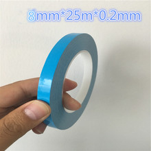 Buy 1rol DS203 Thermal Dissipation Adhesive Tape Blue Double Sided LED Adhesive Tape IC Cooling Fin Fixed Free Russia for $4.18 in AliExpress store