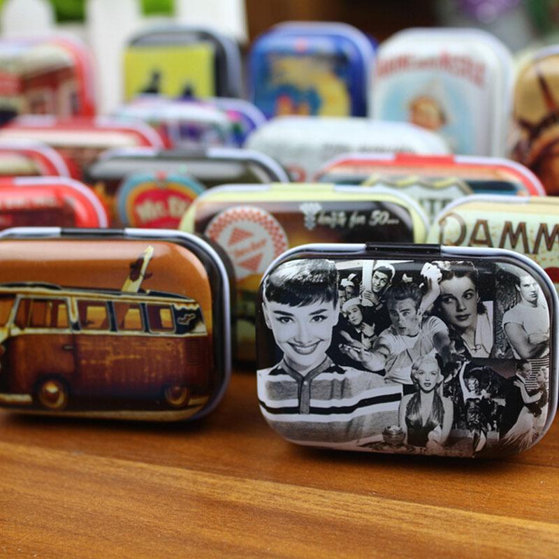 Hot Sale Protable Mini Travel Tin Box Zakka Vintage Small Metal Tins Storage Box Organizer Pill Case(China (Mainland))