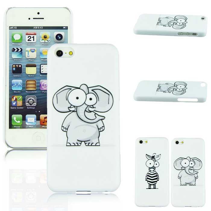 Fantastic AM1M131-(2) Cartoon cute Elephant Design Hard Back Case Cover iPhone 5C - Milky Stars store