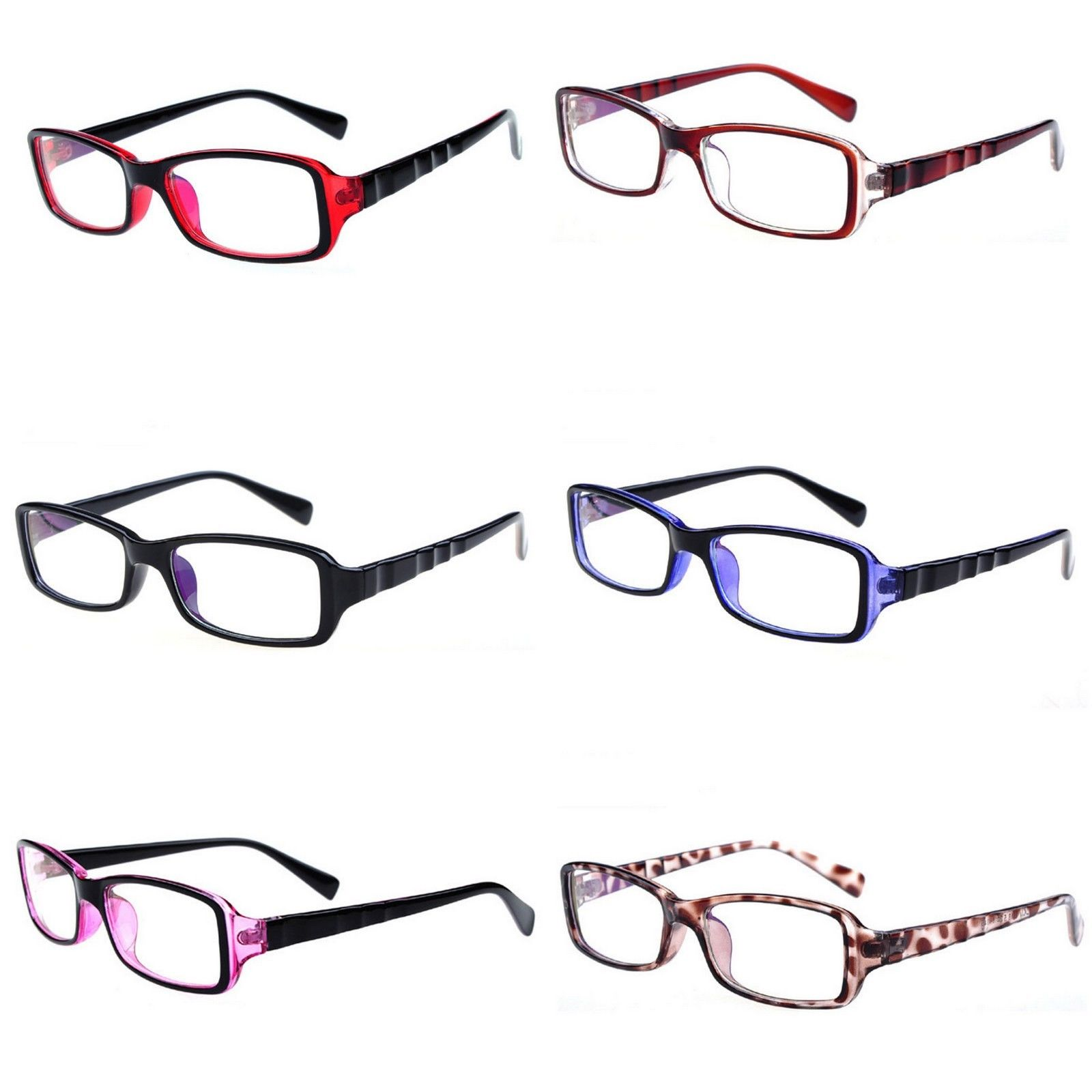 Men Women Clear Lens Nerd Decorative Anti radiation Computer Goggles Glasses