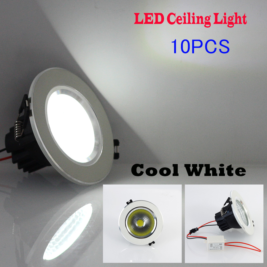 10PCS/lot 5W/7W/9W/12W/25W Bright LED COB Chip Downlight Recessed LED Ceiling Light Spot Light/Lamp Cool White<br><br>Aliexpress