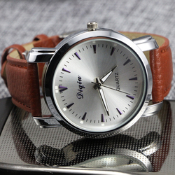 Men Watches 2015 Relogio Quartz Watch Luxury Brown Leather New Fashion Relogios Hot Watch Analog GS-T0024