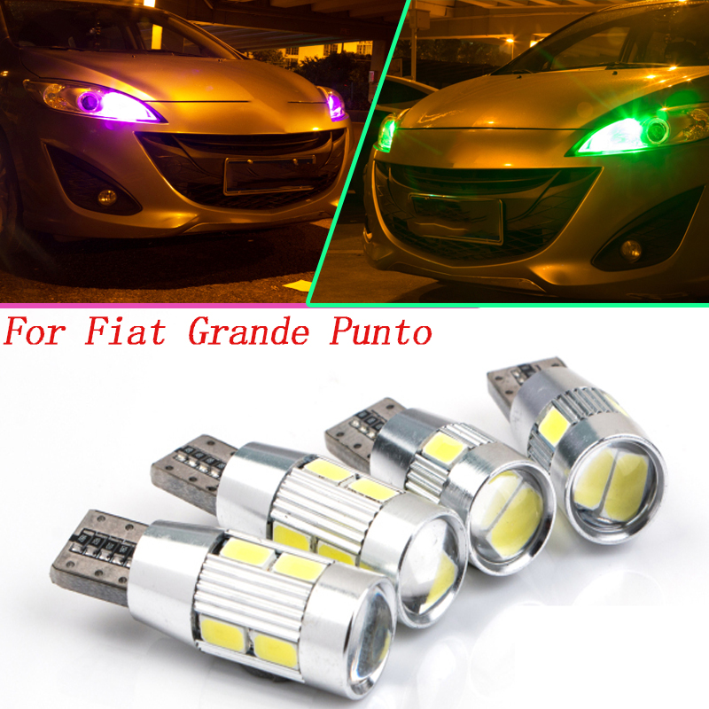 2pc T10 W5W LED Front Parking Light Front Side Marker Light Source Car Styling For Fiat Grande Punto(199) Grande PuntoVan (199)(China (Mainland))