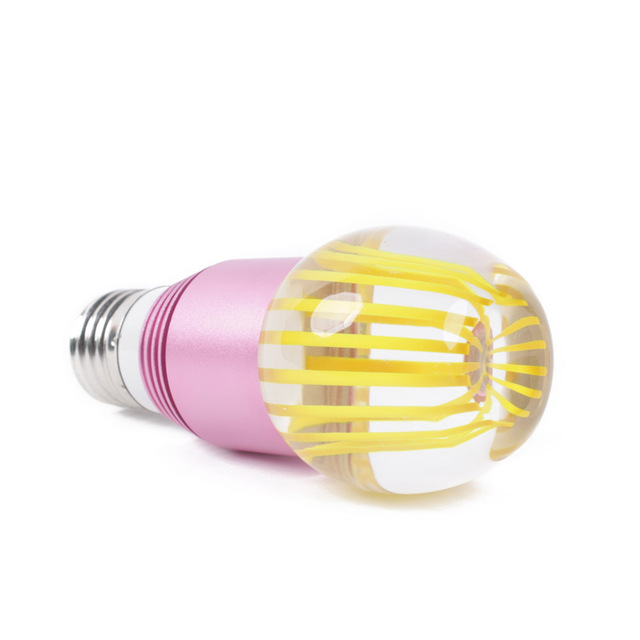 Wholesale 10pcs/lot yellow crystal E27 3W RGB Remote Control LED Lamp for shop hotels restaurants Hall museums offices 85 - 265V