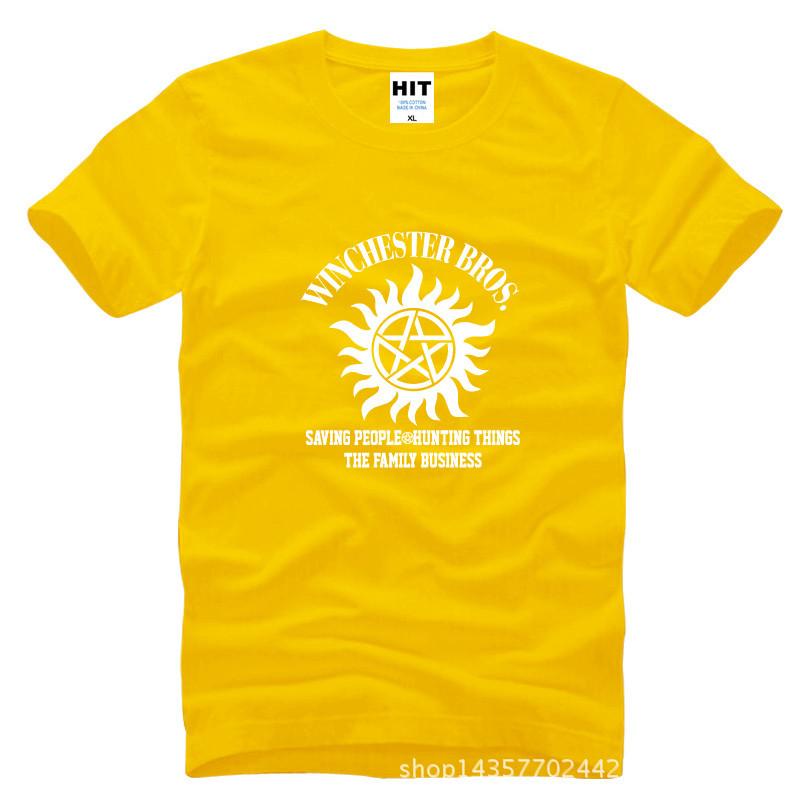 bea770ab6b7c6 SUPER NATURAL WINCHESTER BROTHER SIX STAR GRAPHIC Tee Printed Mens Men T  Shirt T-shirt 2015 Cotton Tshirt Camisetas Masculina - us574