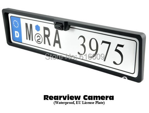 Free shipping License Plate Frame car backup reverse parking rear camera for All European Cars EU car number frame