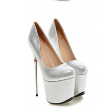 16cm Metal Heel Stiletto Pumps Spring Autumn High Quality Patent Leather Red Bottoms Woman Shoes Fashion