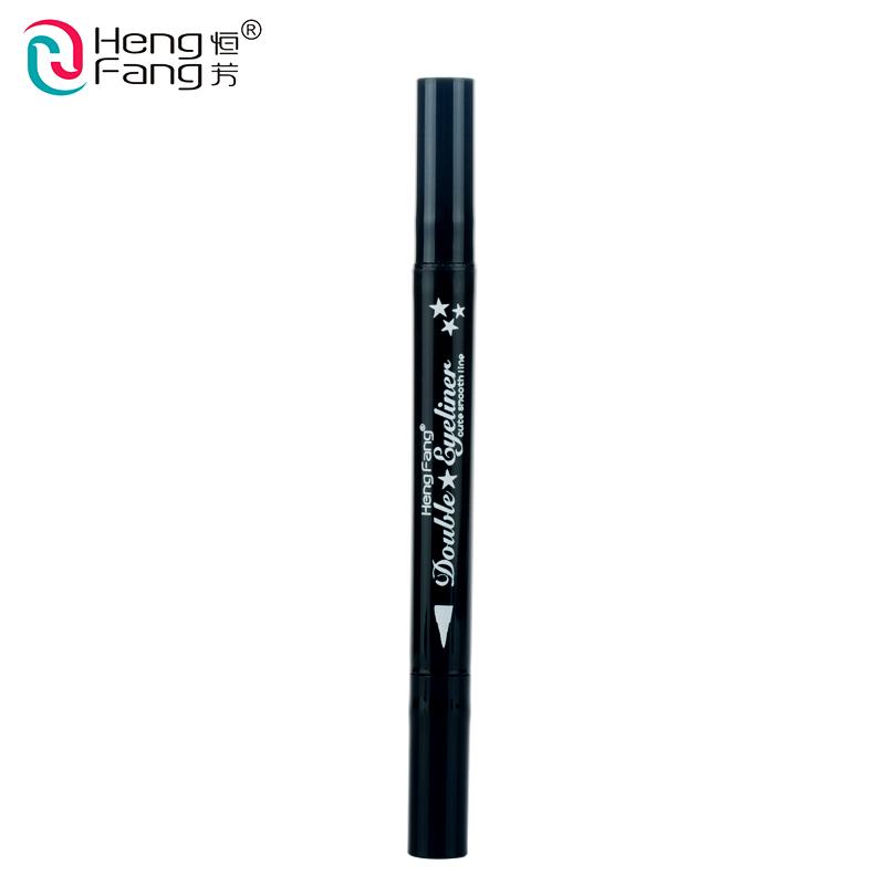 4 Styles Double-headed Eyeliner Liquid Black Eye liner Pen Star Moon Shape 2.5g Eye Makeup Brand HengFang #52244