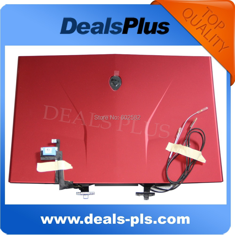 FOR Dell Alienware M14x R2 LCD Back Cover w/ Hinges/Webcam/Led/Cables C44HY - RED<br><br>Aliexpress