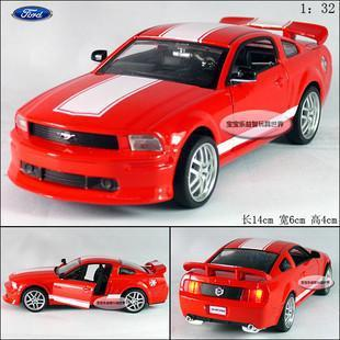 New Ford Mustang GT 1:32 Alloy Diecast Model Car With Sound&Light Red Toy Collection B279