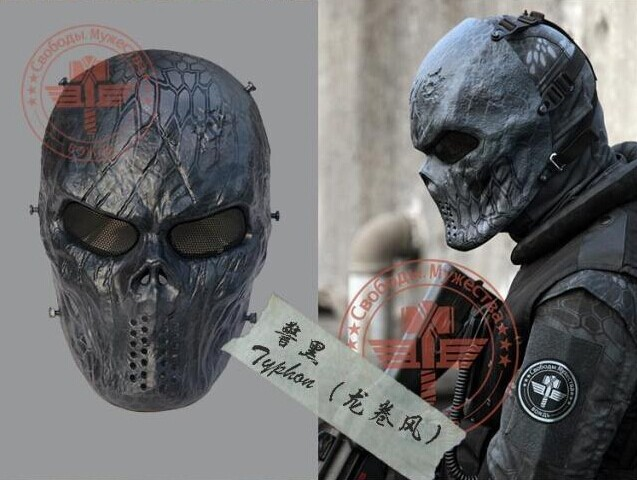 Typhon Camouflage Tactical Masks Outdoor Military Wargame Paintball Full Face Airsoft Skull Drop Shipping - Edson chen's store