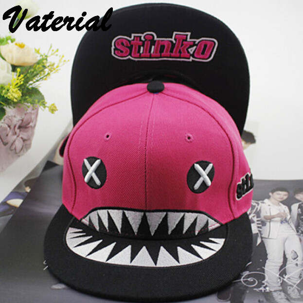 Korean XX eye shark tooth flat along hip hop baseball cap snapback caps basketball bbs center caps VA0054(China (Mainland))