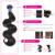 Необработанные Перуанский Девы Волос Объемной Волны Человеческих Волос Соткет Связки Уток 3 шт. 300 г BD Волос