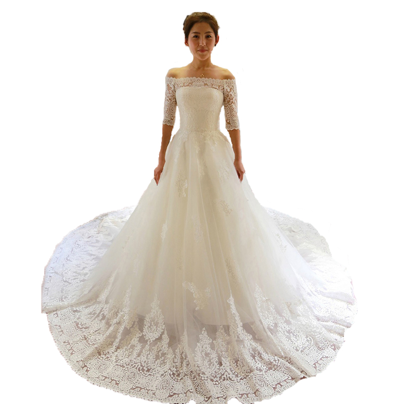 Top Luxury Wedding Dress : Aliexpress buy elegant strapless lace wedding dress