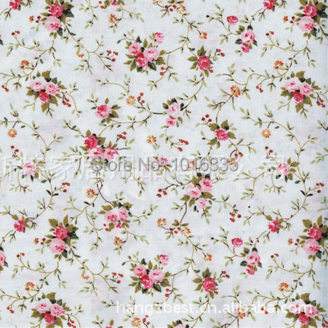 Hot sale blue floral printed 100 cotton fabric small for Patterned material for sale